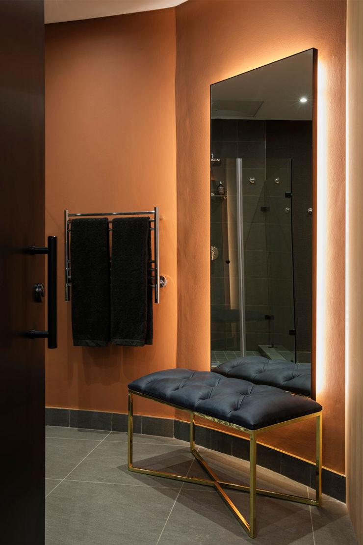 Shower room interior design workroom. Modern bathroom
