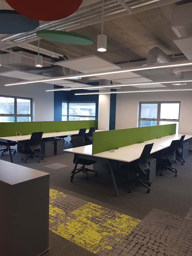 interior design workroom. Modern office buildings