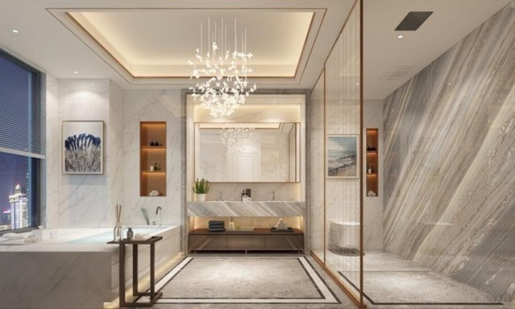 Modern Villa with Pool, Abingdon, Oxfordshire Abodde Luxury Homes Modern Bathroom
