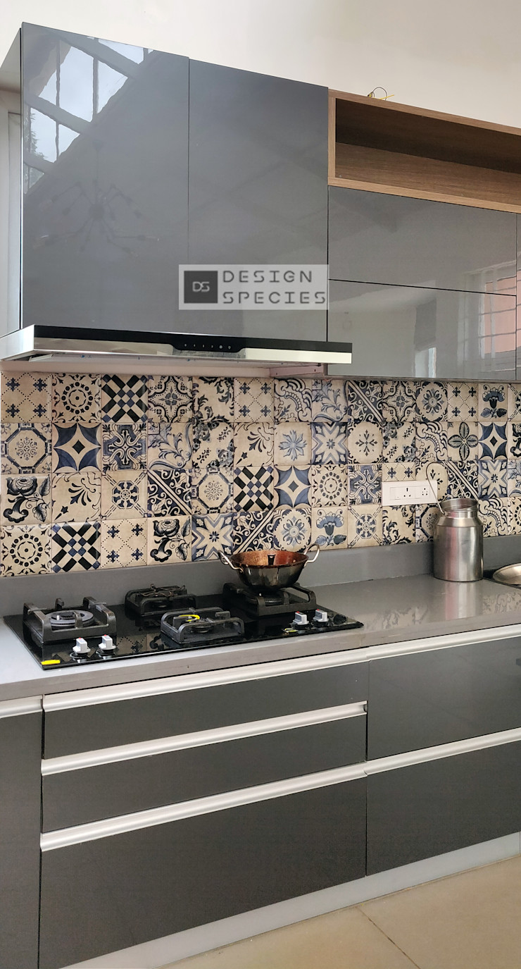 DESIGN SPECIES KitchenCabinets & shelves Plywood Grey