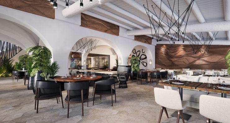 Semi-Outdoor Dining ROMAZZINO C.S. SERVICE SRL Hotel moderni