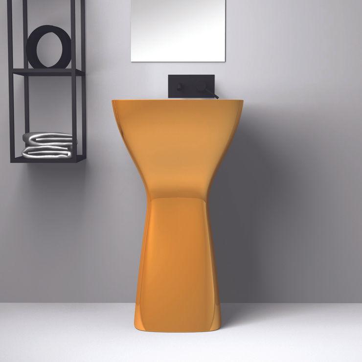 eto' Minimalist bathroom Ceramic Amber/Gold