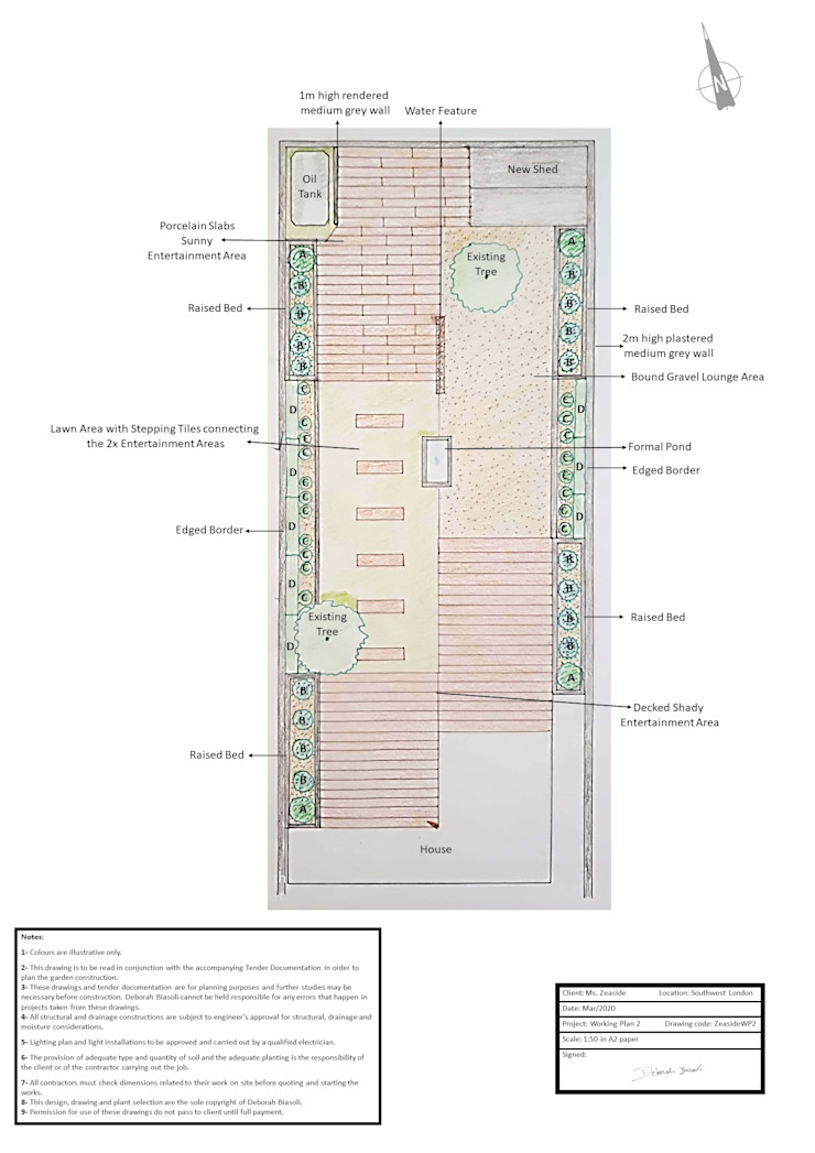 Project Master Plan The Rooted Concept Garden Designs by Deborah Biasoli モダンな庭