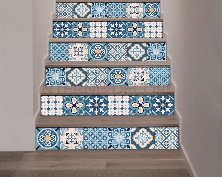 """Adesivo per scale """"WHITE AND BLUE STAIRS"""" – Decorazione per scale INTERNI & DECORI Scale PVC Blu"""