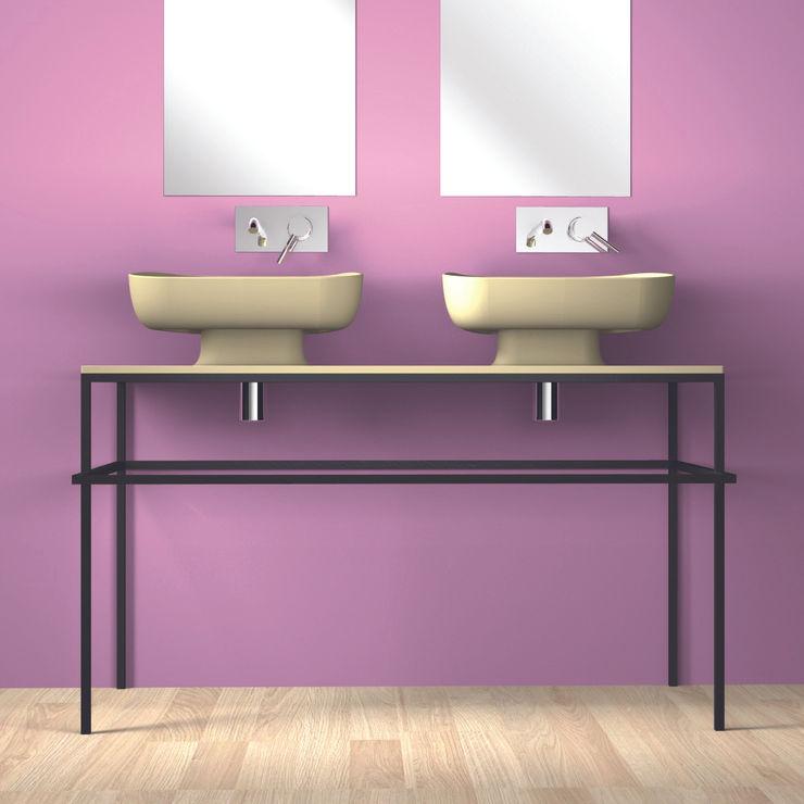 EXPO 120 beige : doppio lavabo tra classico e moderno eto' Bagno moderno Ceramica Beige