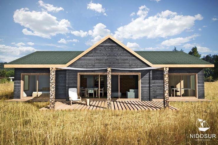 Casa Bonnefont NidoSur Arquitectos - Valdivia Casas unifamiliares