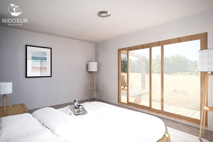 Casa Bonnefont NidoSur Arquitectos - Valdivia Dormitorios pequeños