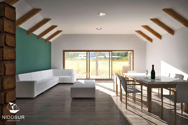 Casa Bonnefont NidoSur Arquitectos - Valdivia Livings de estilo moderno