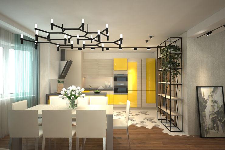 ISDesign group s.r.o. Salas de estar ecléticas Amarelo