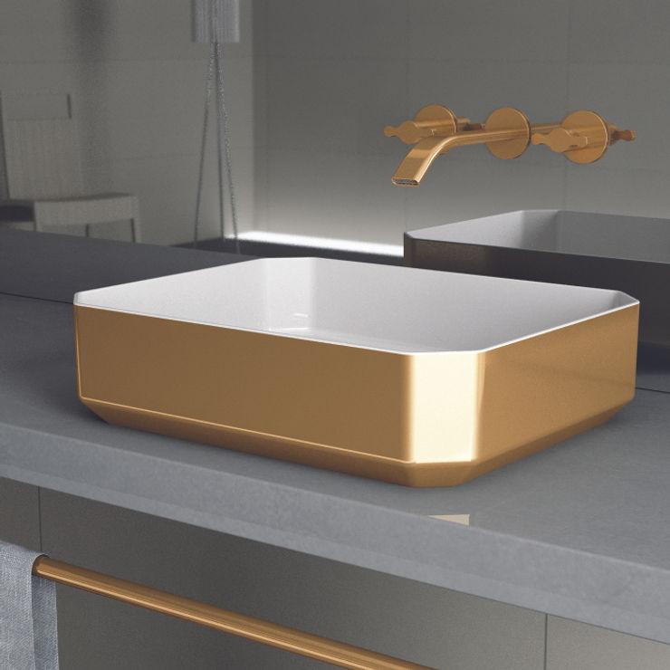 HERA oro eto' Bagno in stile classico Ceramica Ambra/Oro