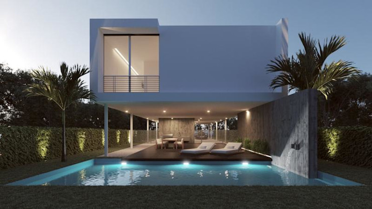 Pool villa Abodde Luxury Homes Swimming pond Reinforced concrete White