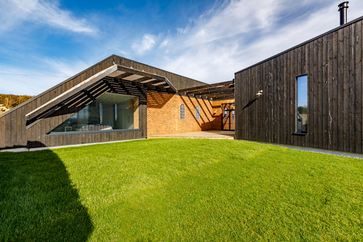 Sustainable New Build In Wadebridge Arco2 Architecture Ltd Front garden