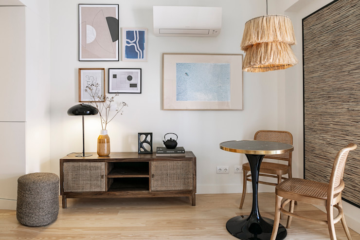 sala estar - espaço de refeições Staging Factory Salas de estar modernas