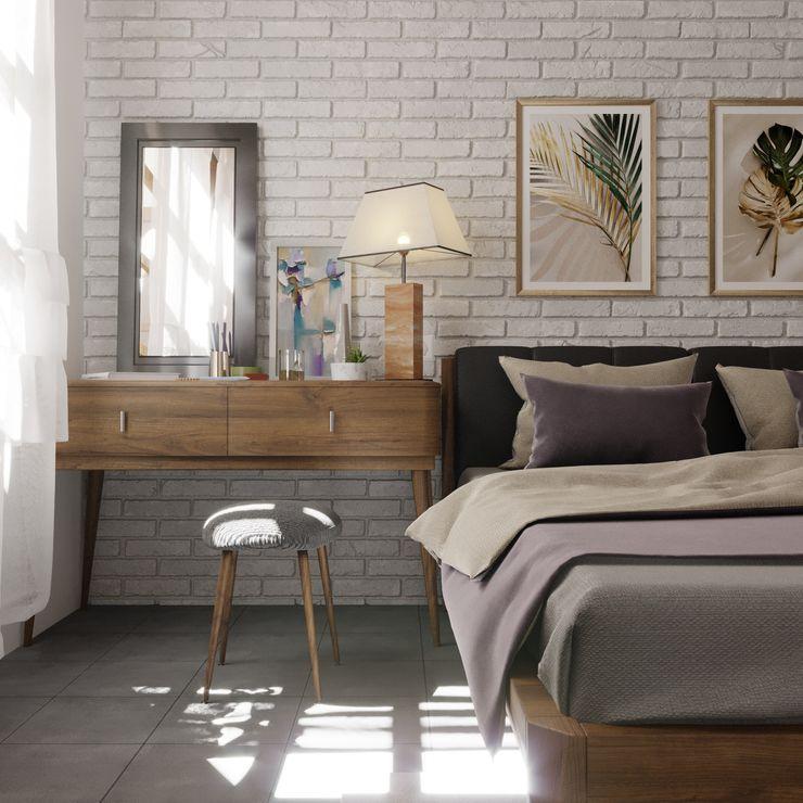 DiArsitekin Classic style bedroom Bricks Multicolored