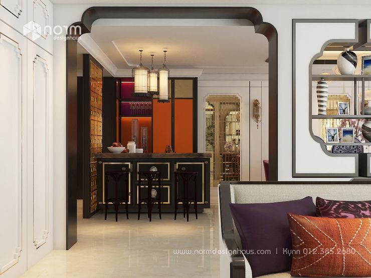 Norm designhaus Ruang Keluarga Gaya Asia
