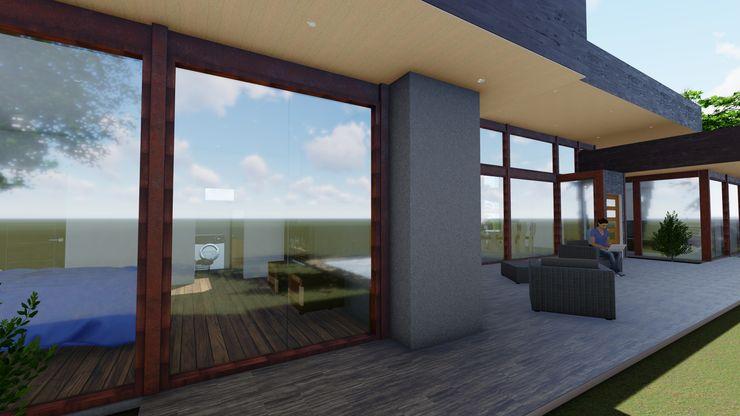 Vivienda Unifamiliar 160 m2. Curicó. Región del Maule Nave + Arquitectura & Modelación Paramétrica Casas de estilo mediterráneo