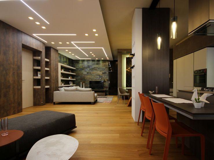 Studio Ferlenda Вітальня Дерево Дерев'яні
