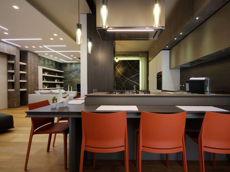 Studio Ferlenda Вбудовані кухні Мідь / Бронза / Латунь Білий