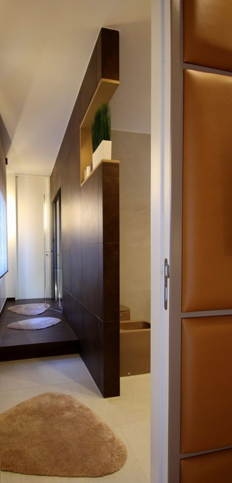 Studio Ferlenda Ванна кімната Плитки Коричневий