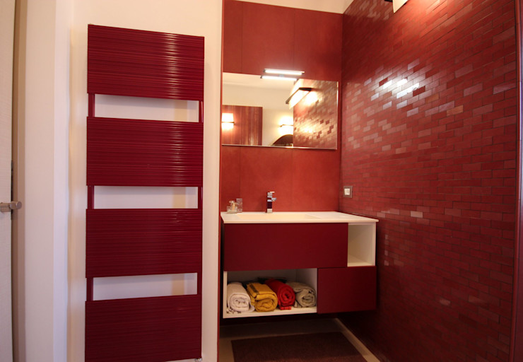 Studio Ferlenda Ванна кімната Плитки Рожевий