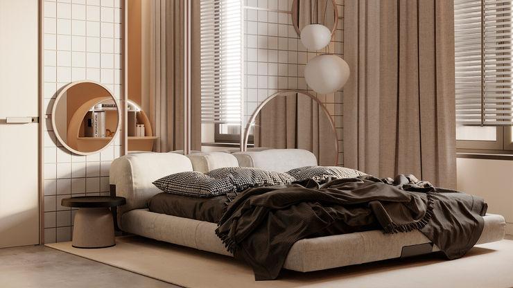 Studio DA Minimalistische Schlafzimmer Beige