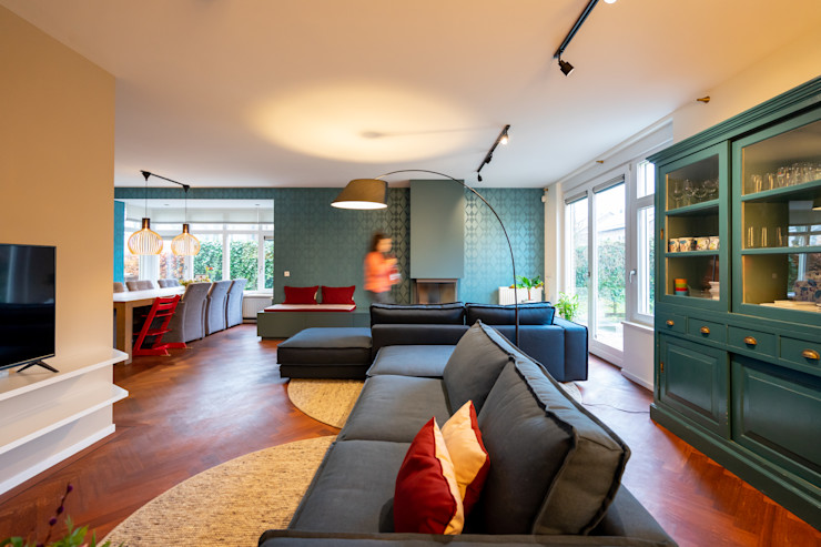 Nieuwbouw met karakter Lew interieur design Moderne woonkamers