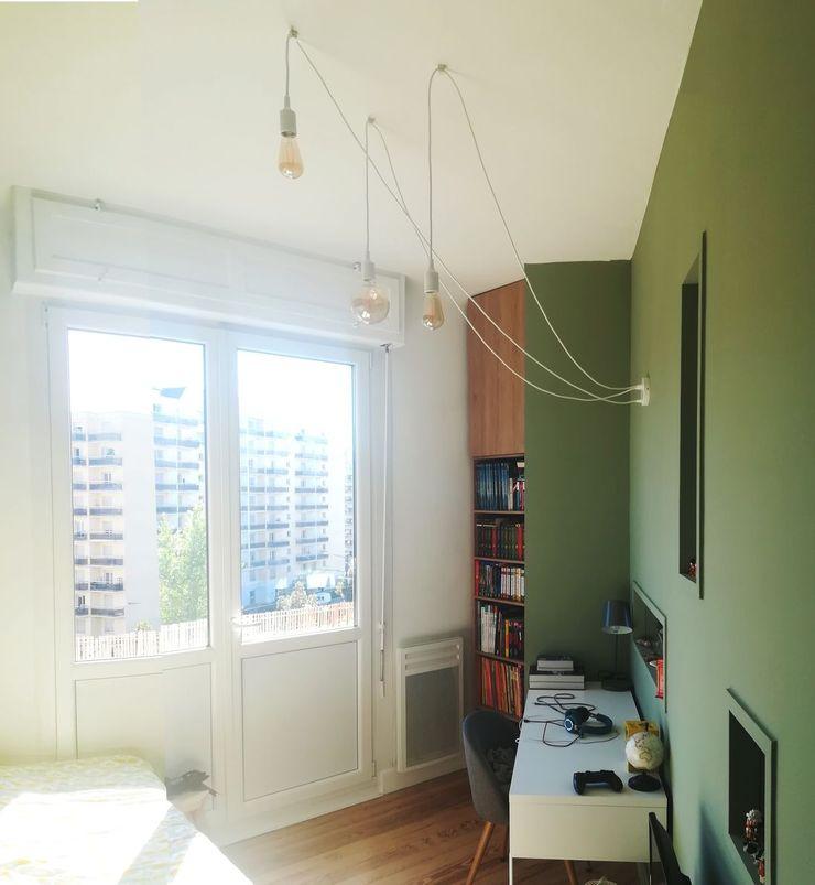 VUE SUR CHAMBRE 1 Lionel CERTIER - Architecture d'intérieur Chambre d'enfant moderne