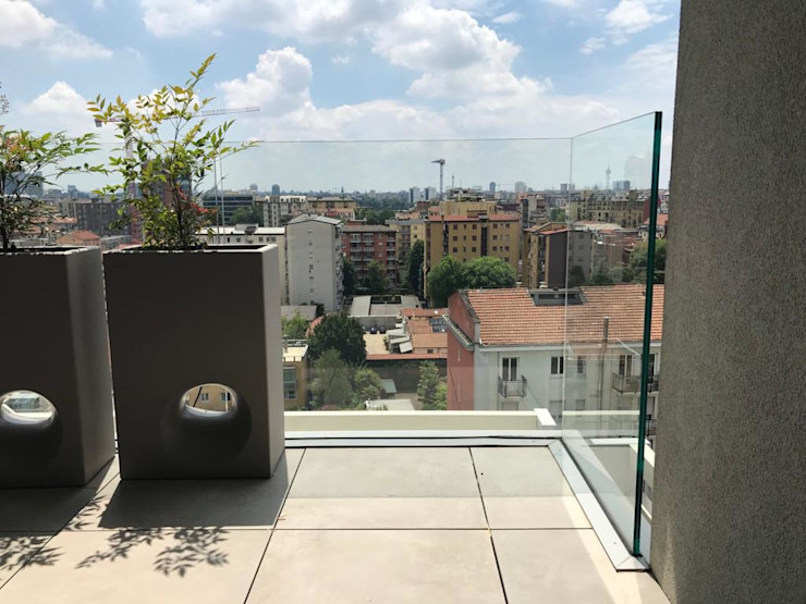 Parapetti in vetro Fontanot Edilforniture Balcone Vetro Trasparente