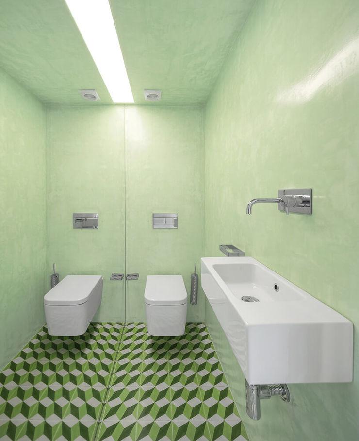 Padimat Design+Technic 現代浴室設計點子、靈感&圖片 陶器 Green