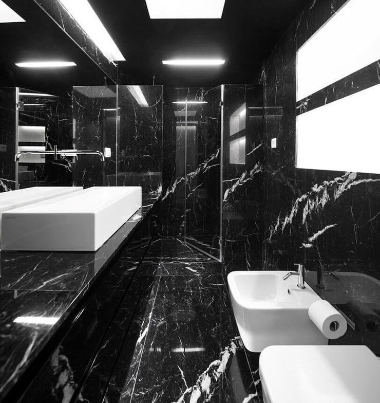 Padimat Design+Technic 現代浴室設計點子、靈感&圖片 陶器 Black