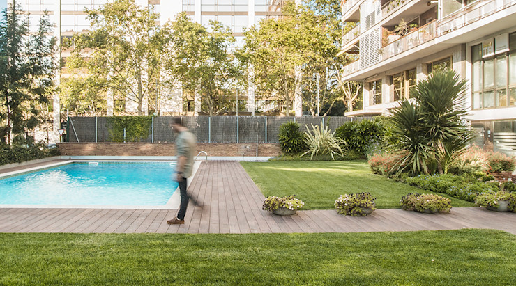 Espacio interior del jardin Soler Valiente Arquitectes Jardines de estilo moderno