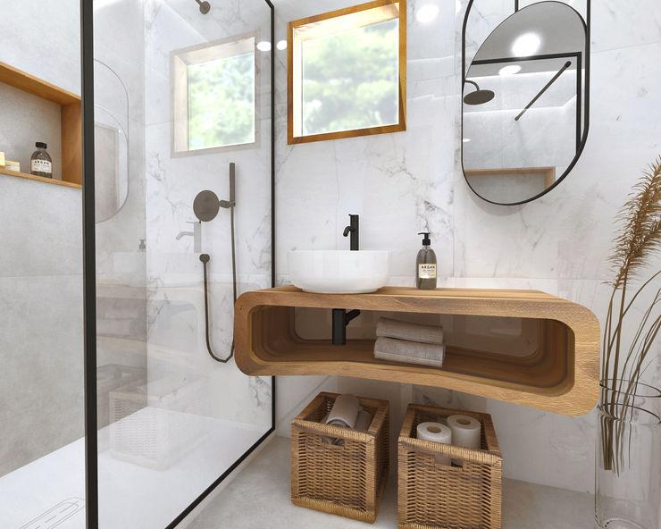 Smile Bath S.A. Baños de estilo tropical Madera Acabado en madera