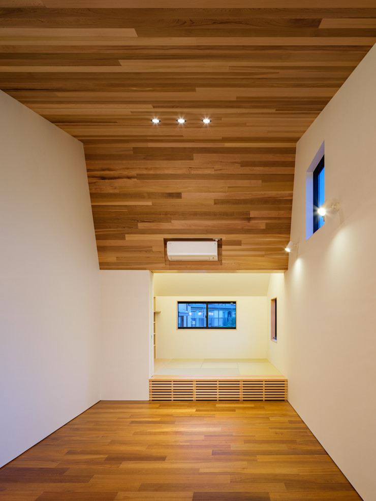 明大前の賃貸併用二世帯住宅 設計事務所アーキプレイス 北欧デザインの リビング 木 木目調