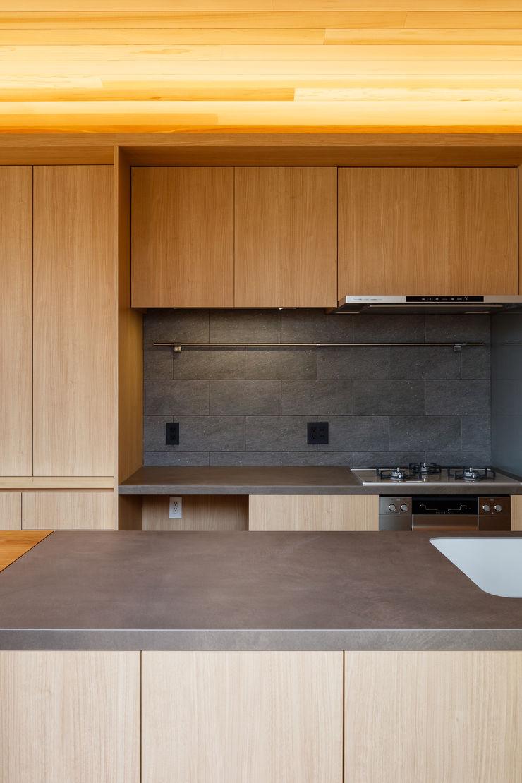 明大前の賃貸併用二世帯住宅 設計事務所アーキプレイス キッチンキッチン用具 セラミック 木目調