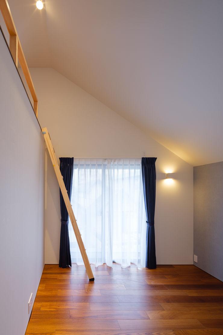 明大前の賃貸併用二世帯住宅 設計事務所アーキプレイス 寝室テキスタイル 綿 青色