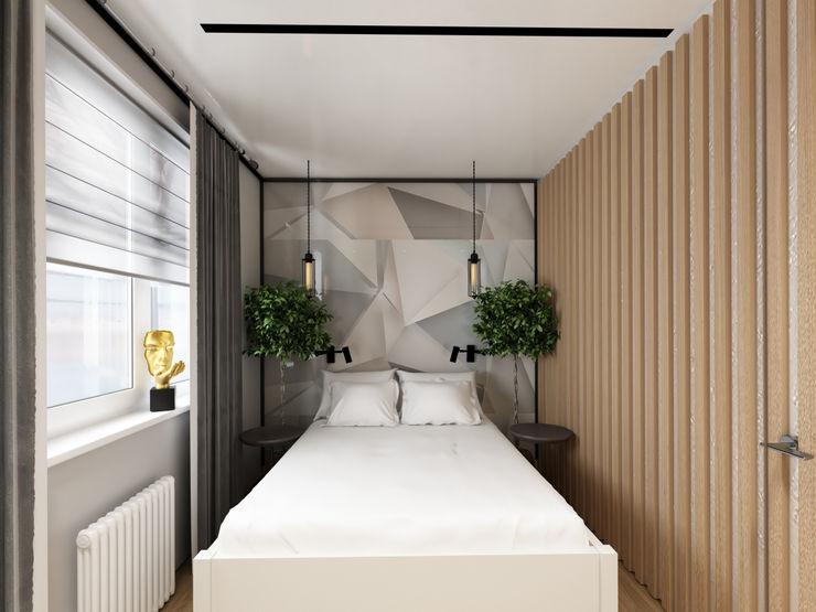 Спальня Юлия Левина дизайнер Маленькие спальни