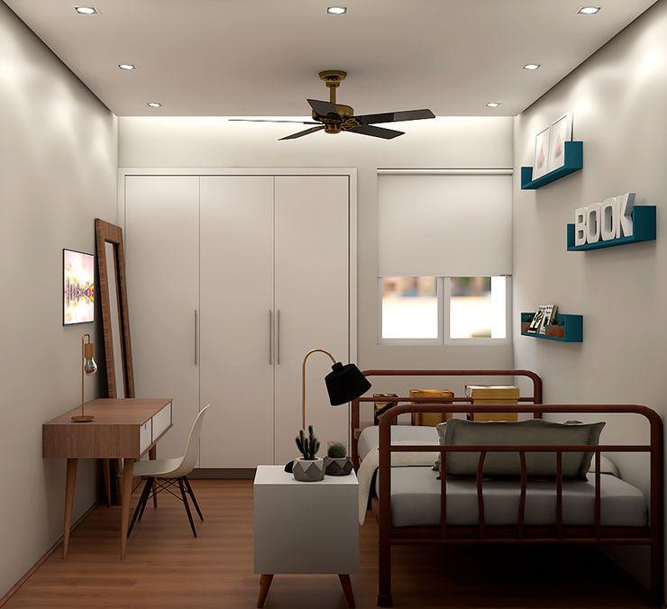SCK Arquitetos Modern style bedroom