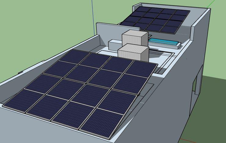 SketchUP Model ESPECIALISTAS EN ENERGÍA SOLAR SOLAR MX INSTALACIÓN DE PANELES SOLARES Azoteas
