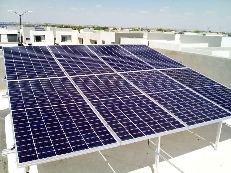 Estructura doble con altura extra ESPECIALISTAS EN ENERGÍA SOLAR SOLAR MX INSTALACIÓN DE PANELES SOLARES Techos
