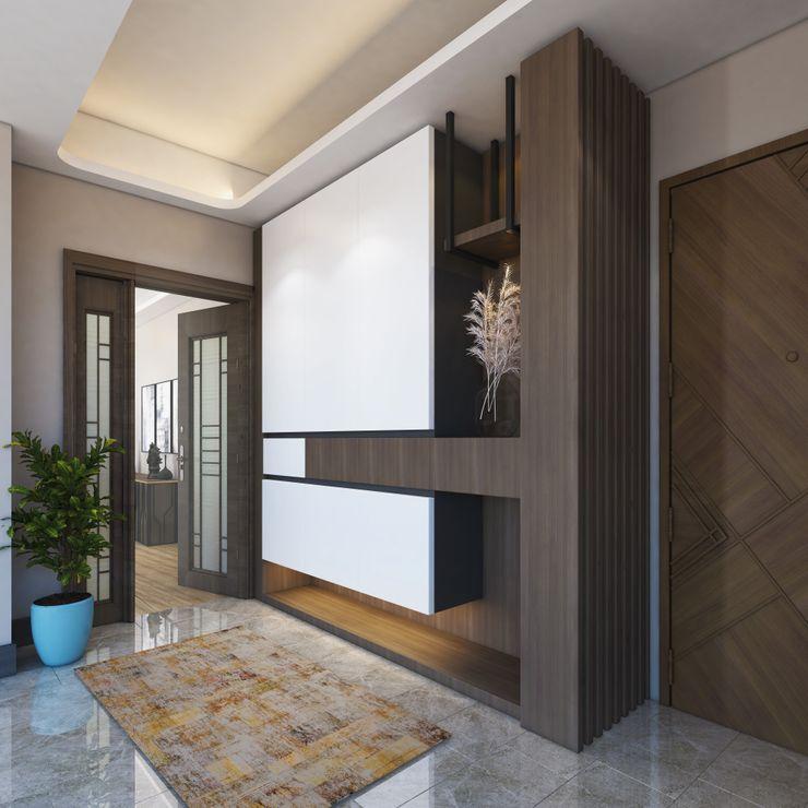 Zeray İnşaat A.Ş. Modern corridor, hallway & stairs