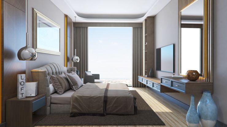 Zeray İnşaat A.Ş. Modern style bedroom