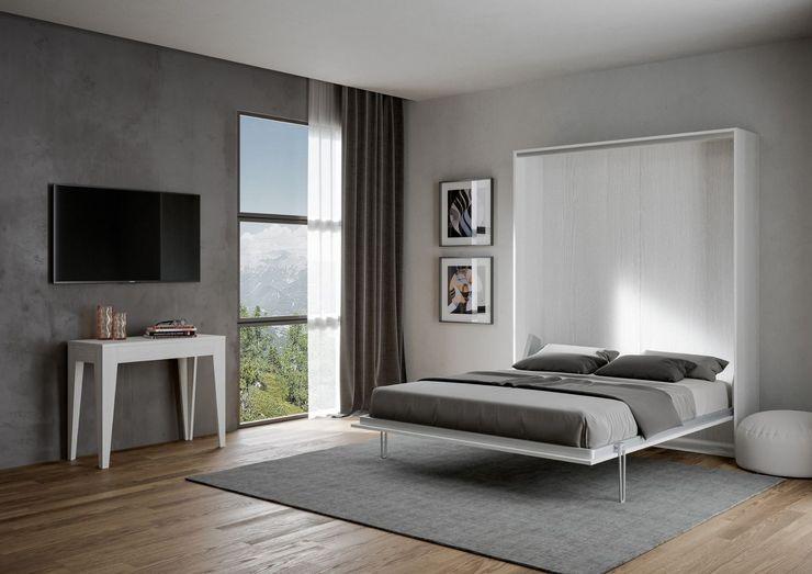 Kentaro matrimoniale itamoby Camera da letto piccola Legno Bianco