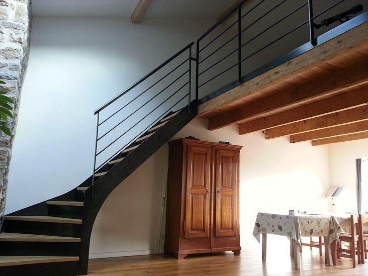 Escalier métallique deux Limons latéraux LBMS. Fabrice Lamouille Escalier Métal