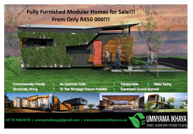 Modular Homes for SALE Umnyama Ikhaya Prefabricated home Aluminium/Zinc Multicolored