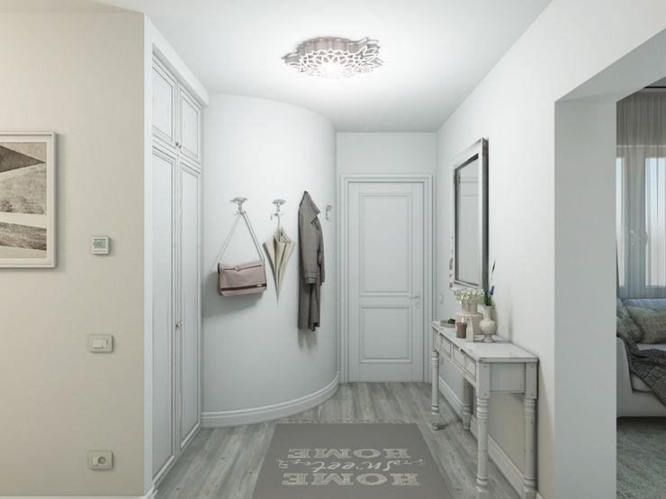 Un pò british, un pò shabby QUADRASTUDIO Ingresso, Corridoio & Scale in stile moderno