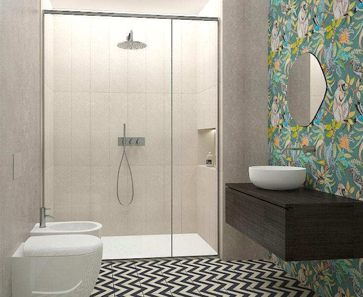 Bagno Studio Zay Architecture & Design Bagno eclettico Ceramica Verde