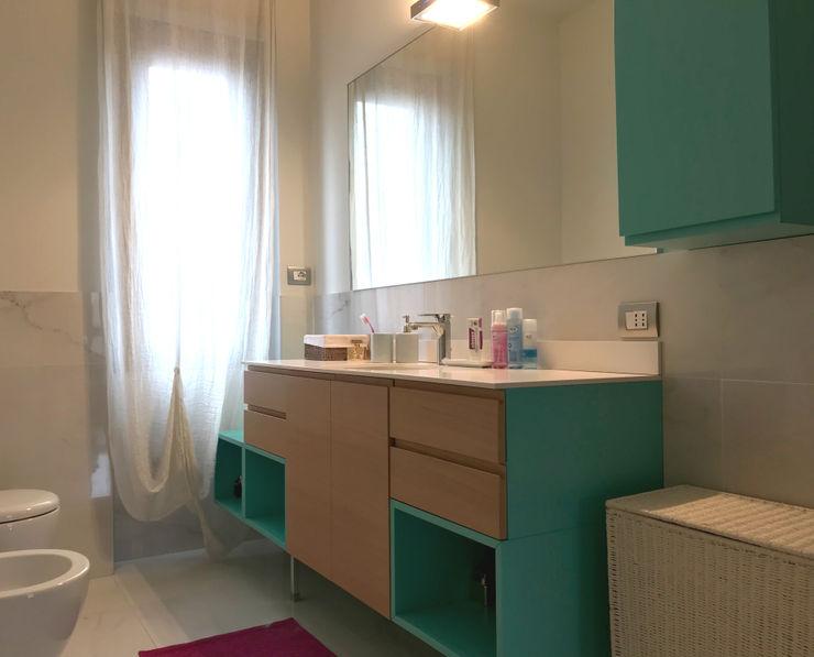 Bagno 1 Studio Zay Architecture & Design Bagno moderno Marmo Turchese