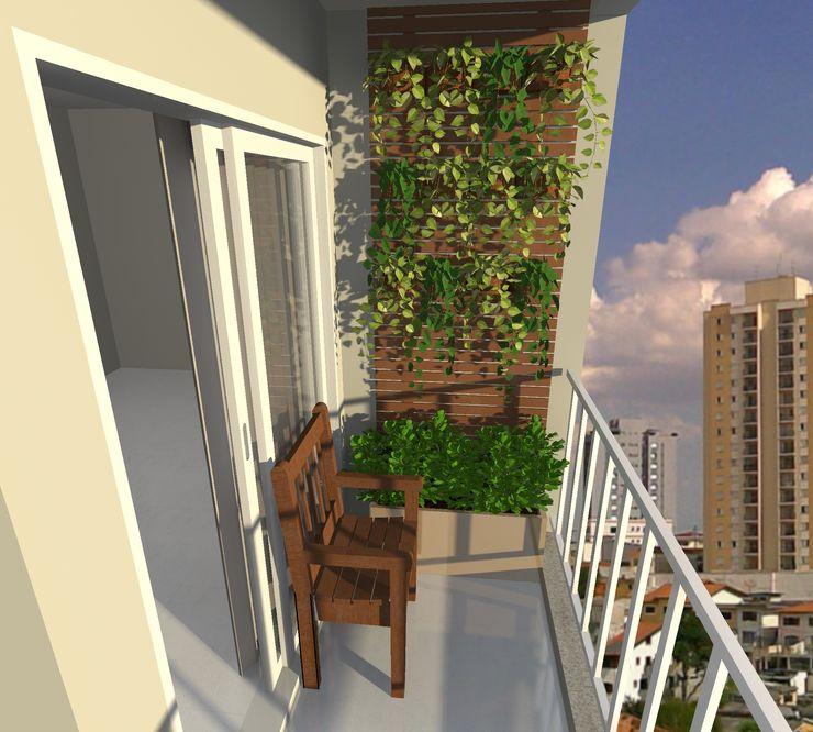 sacada de apartamento Rômulo Masiero Paisagismo Jardins tropicais