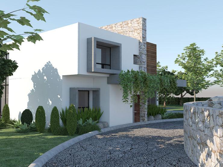 CASA ALVIRDE Arquitectura Progresiva Casas eclécticas Concreto Blanco