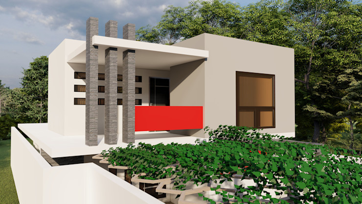 Dacsa Reynosa Multi-Family house Concrete White
